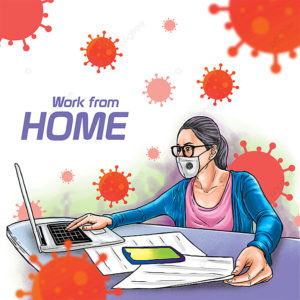pngtree work from home to reduce covid 19 spread png image 2167068